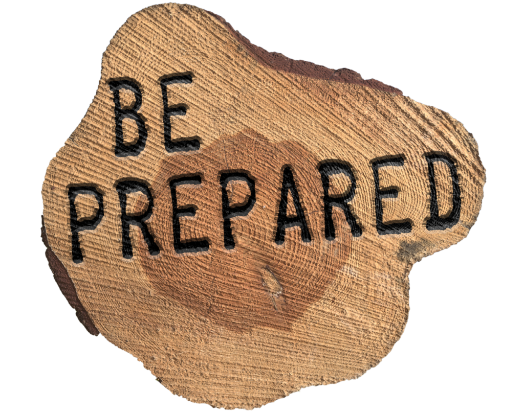 Be Prepared- sport coaching